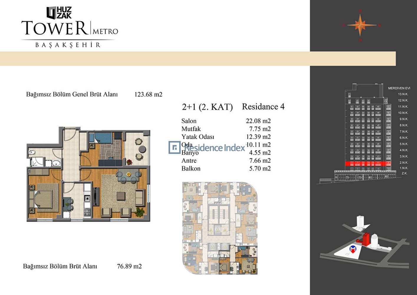 Huzzak Tower Metro Residence 4