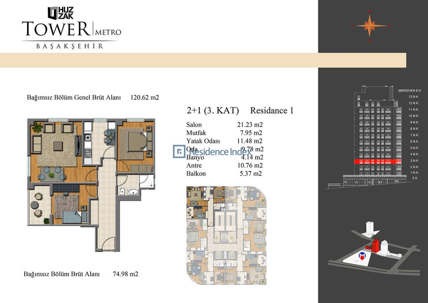 Huzzak Tower Metro Residence 1