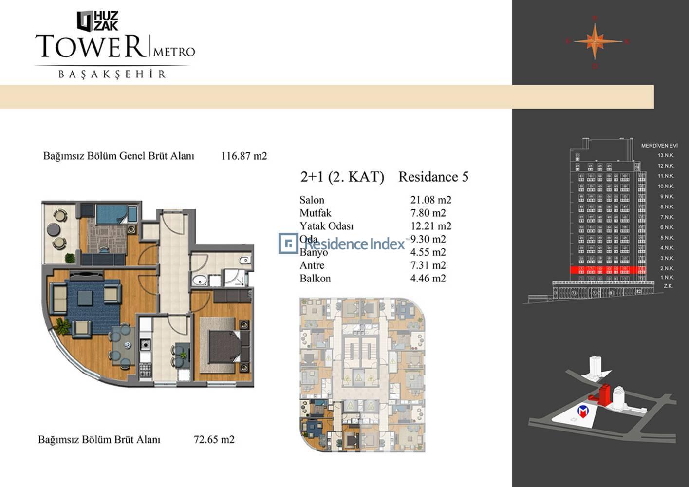Huzzak Tower Metro Residence 5