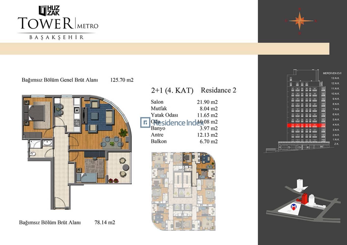 Huzzak Tower Metro Residence 2
