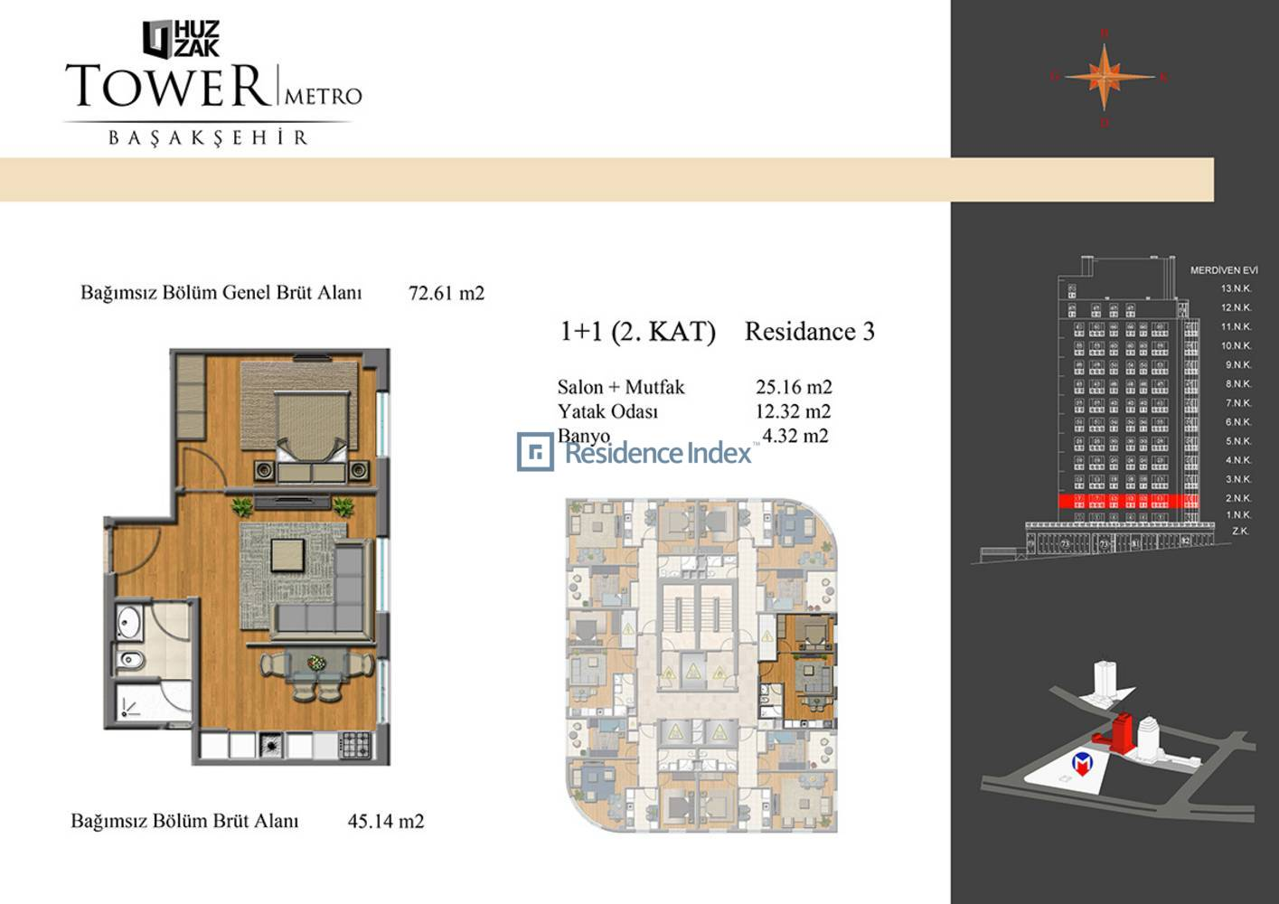 Huzzak Tower Metro Residence 3