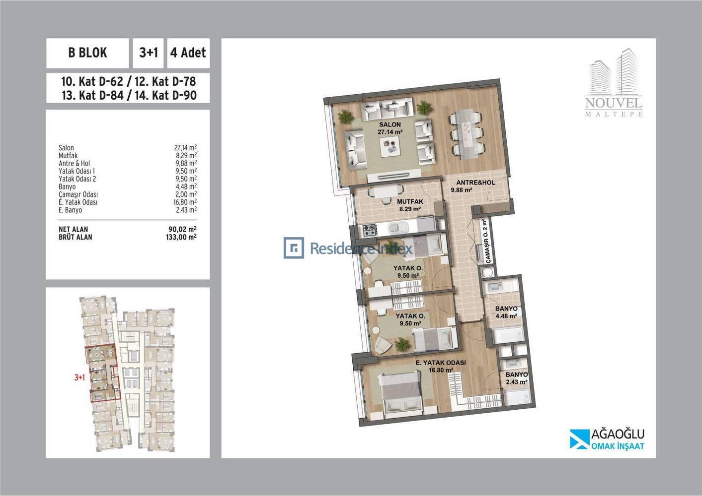 Nouvel Maltepe B Blok D-78