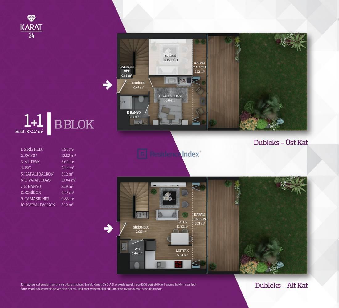 Karat 34 B Blok Tip 4 Dublex