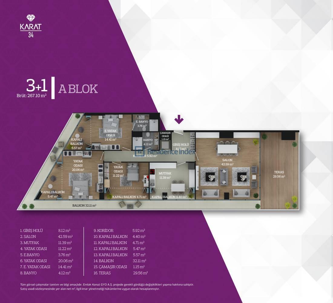Karat 34 A Blok Tip 8