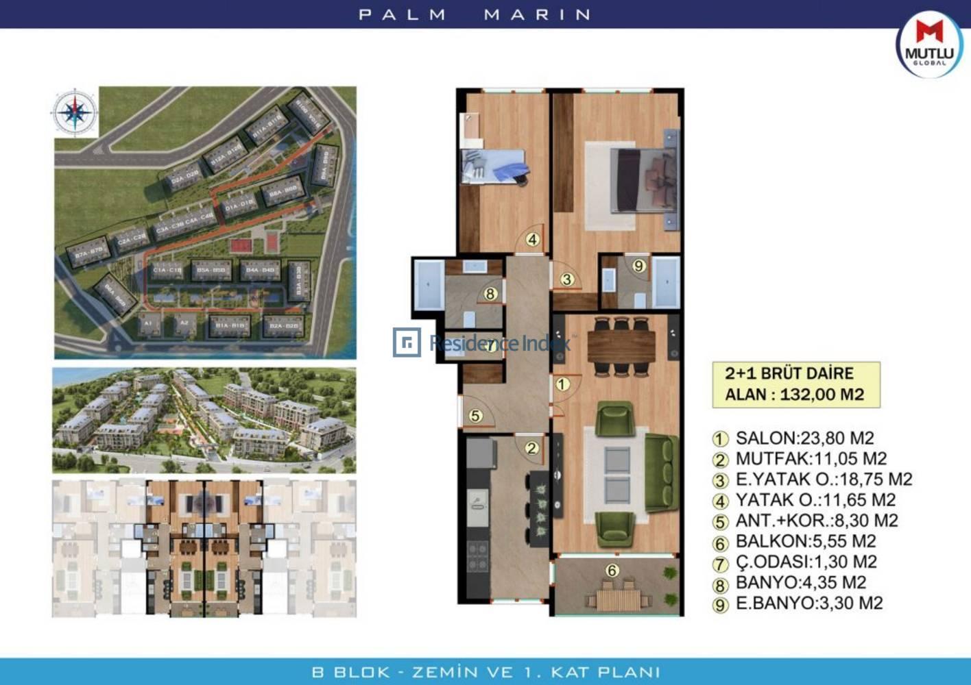 Palm Marin B Zemin