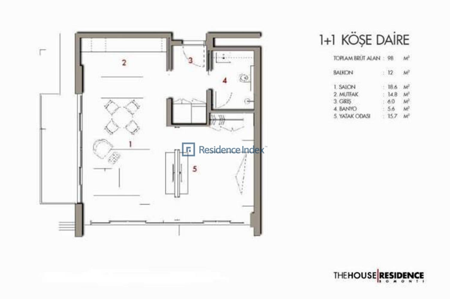 The House Residence Bomonti Tip 2