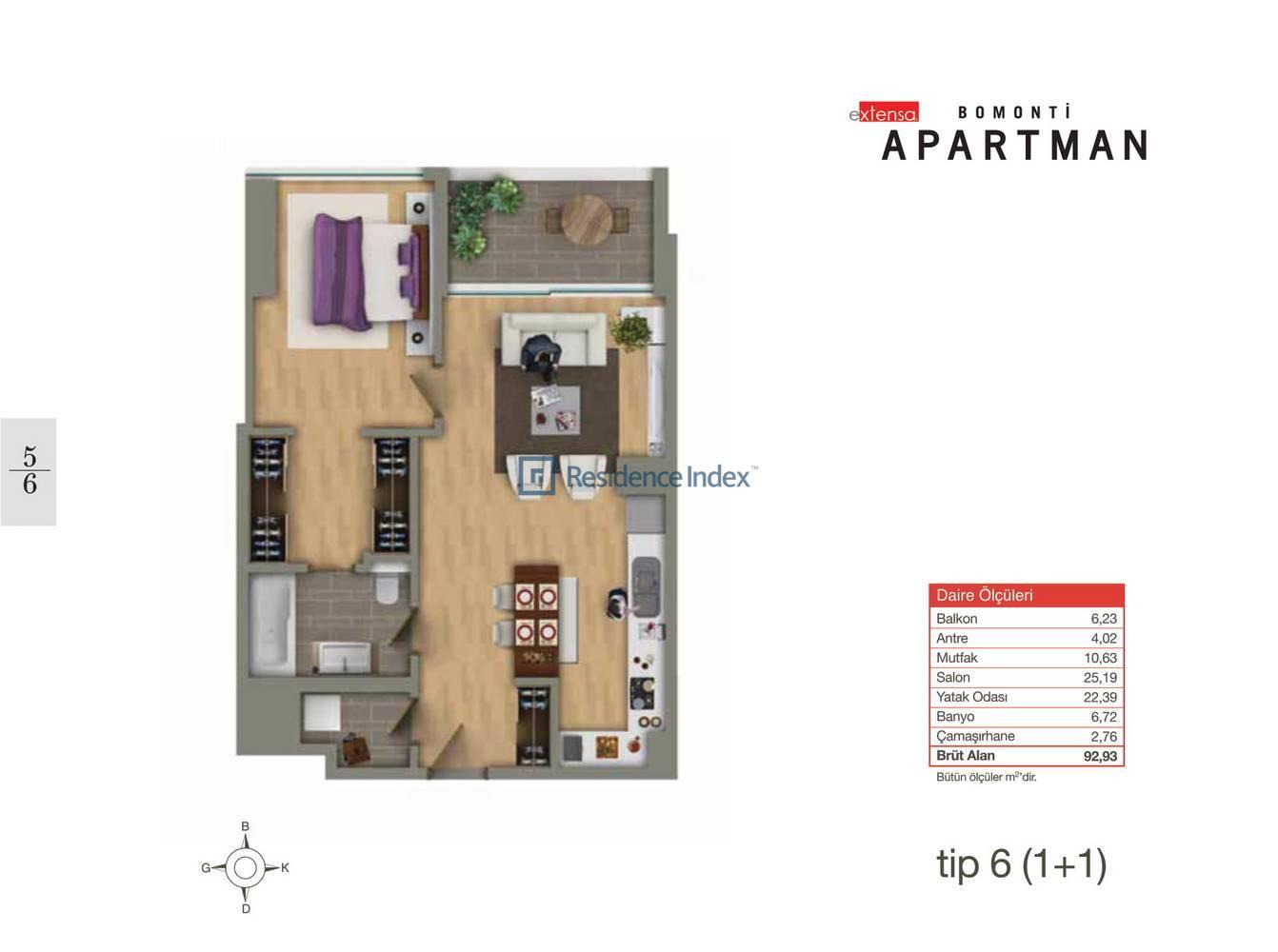 Bomonti Apartmanı Tip 6