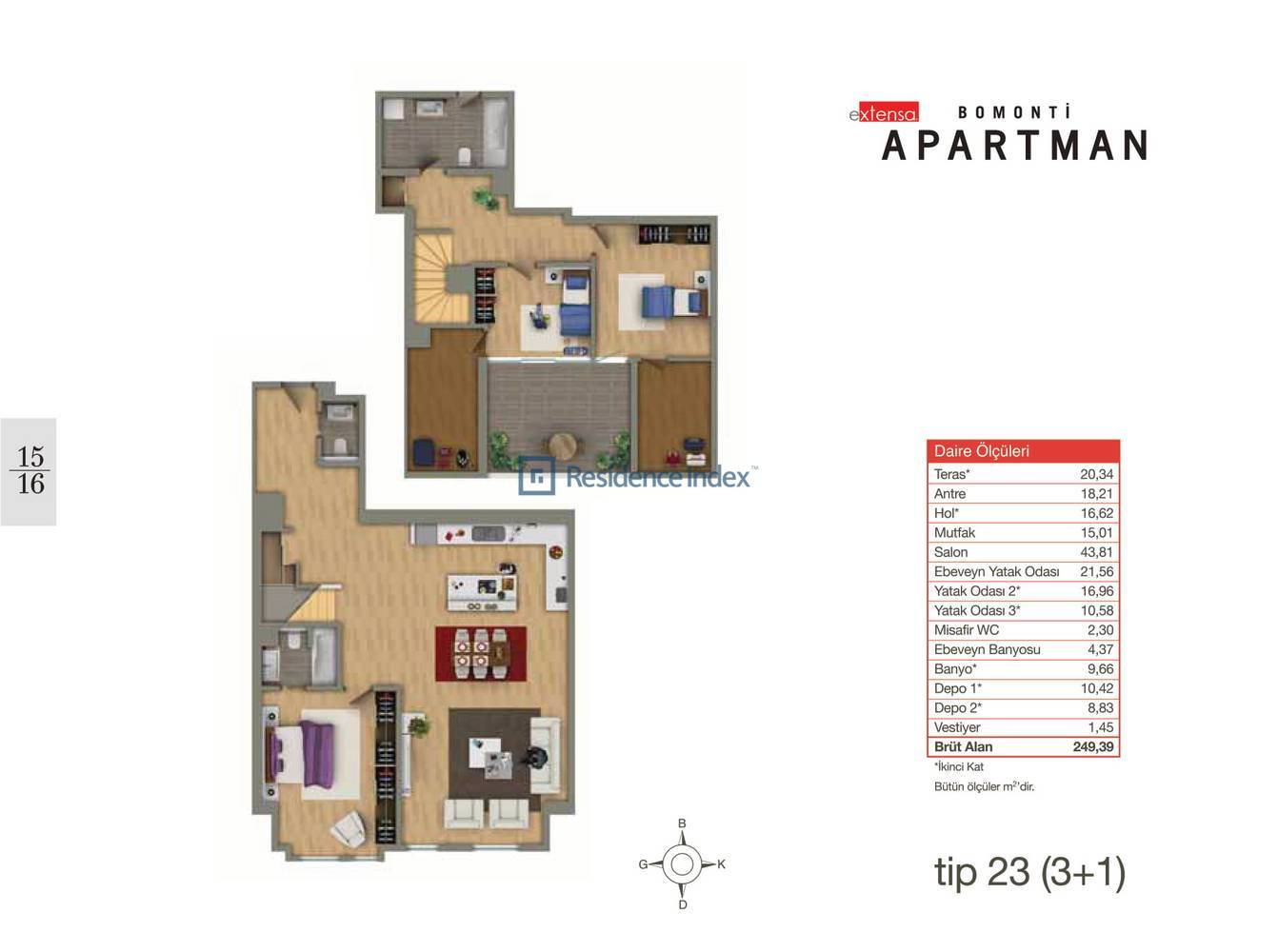 Bomonti Apartmanı Tip 23