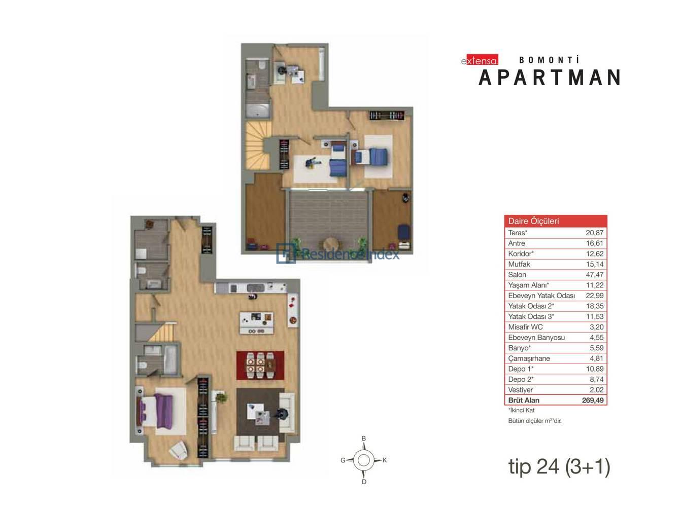 Bomonti Apartmanı Tip 24