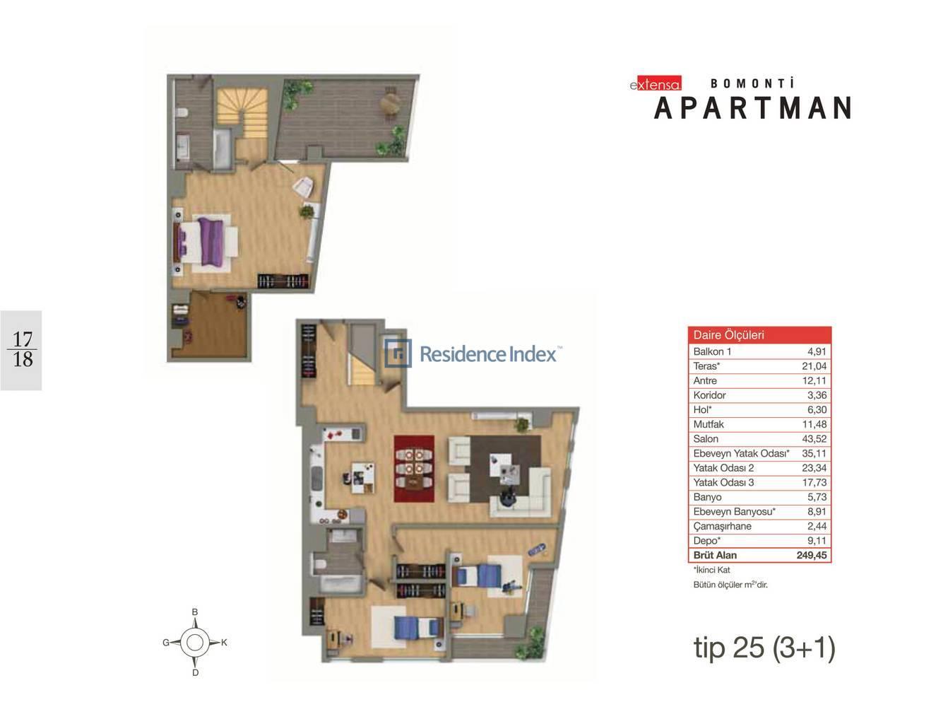 Bomonti Apartmanı Tip 25