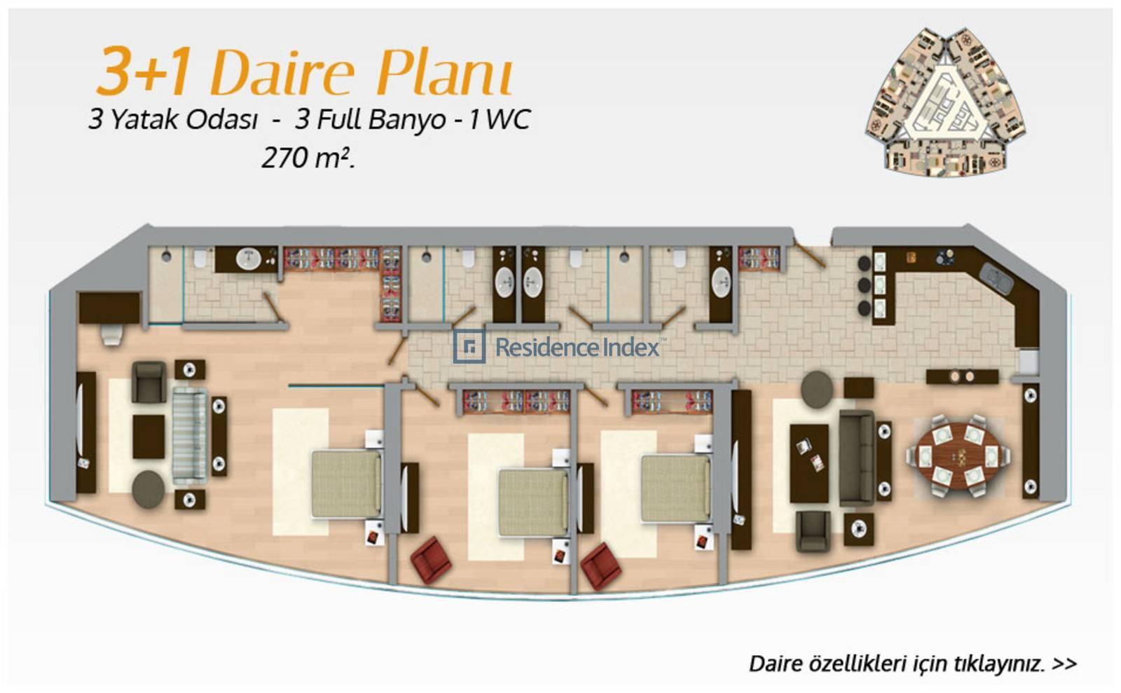 Bomonti Divan Residence Tip 3